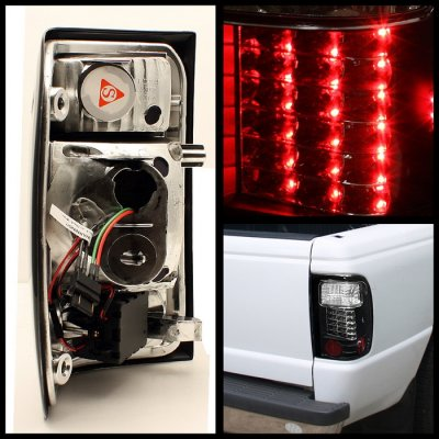 Ford Ranger 2001 2005 Black Led Tail Lights