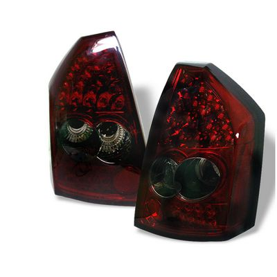 Chrysler 300 2005-2007 Red and Smoked LED Tail Lights