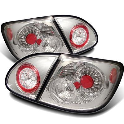 Toyota Corolla 2003-2008 Clear LED Tail Lights