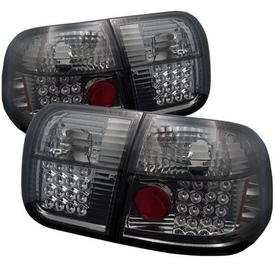 Honda Civic Sedan 1996-1998 Smoked LED Tail Lights