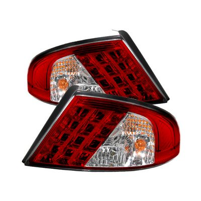 Dodge Stratus 2001-2006 Red and Clear LED Tail Lights