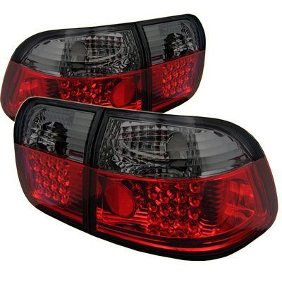 Honda Civic Sedan 1996-1998 Red and Smoked LED Tail Lights