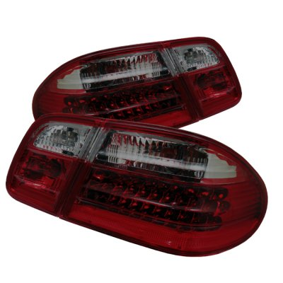 Mercedes Benz E Class 1996-2002 Red and Smoked LED Tail Lights