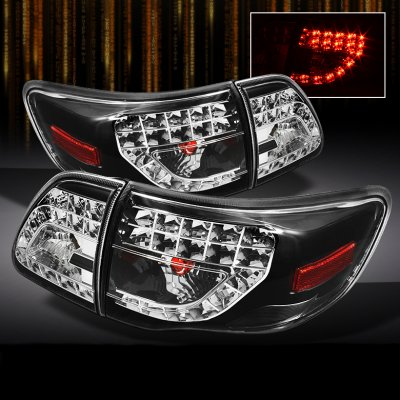 Toyota Corolla 2009 2011 Black Led Tail Lights