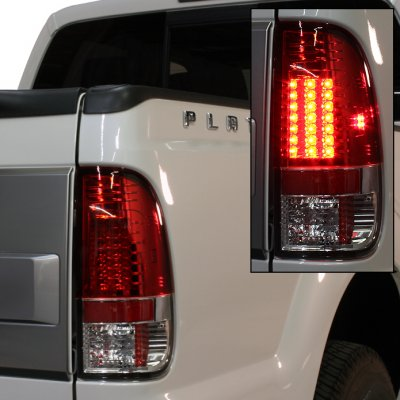 Ford F250 Super Duty 2008 2017 Red And Clear Led Tail Lights