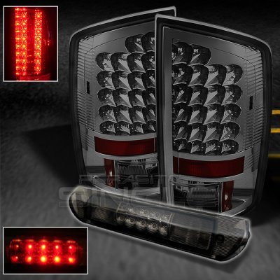 Dodge Ram 3500 2003 2005 Smoked Led Tail Lights And Third