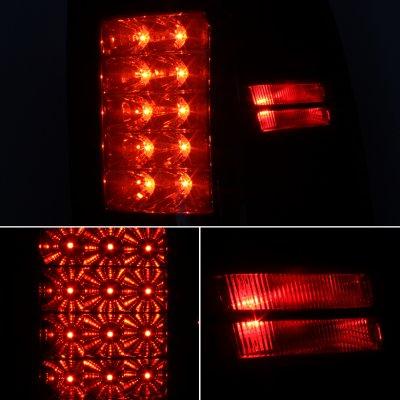 Dodge Ram 2500 2010-2015 Black Smoked LED Tail Lights