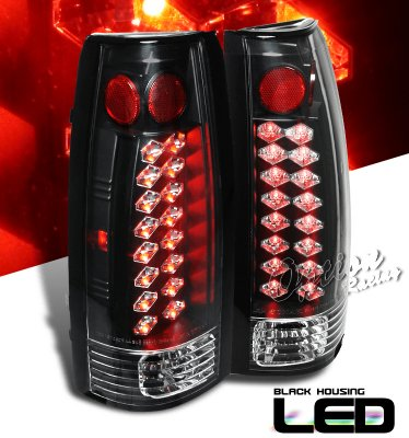 gmc sierra 1988 1998 black led tail lights a103uhg8109. Black Bedroom Furniture Sets. Home Design Ideas