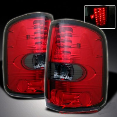 Ford F150 2004-2008 Red and Smoked LED Tail Lights