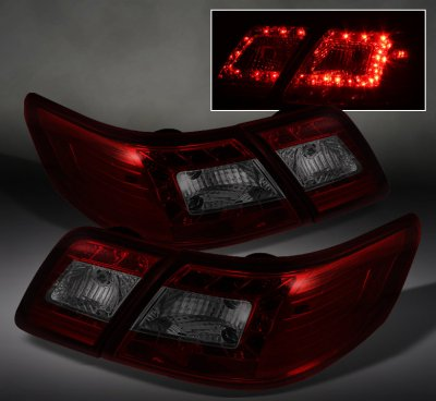 toyota camry 2007 2009 red and smoked led tail lights a103jsch109 topgearautosport. Black Bedroom Furniture Sets. Home Design Ideas