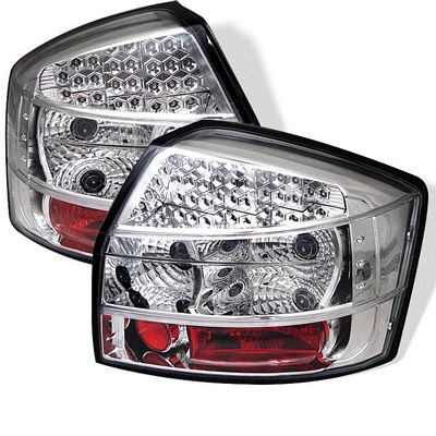 Audi A4 2002-2005 Clear LED Tail Lights