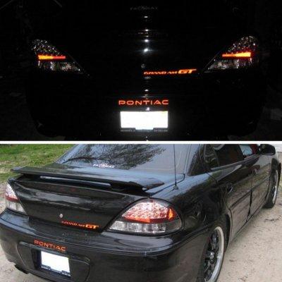 Pontiac Grand AM 1999-2005 Black LED Tail Lights ...
