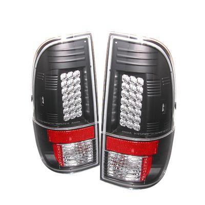 Ford F250 Super Duty 2008-2012 Black LED Tail Lights