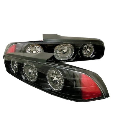 Acura Integra Coupe Black LED Tail Lights AWBBF - 1999 acura integra tail lights