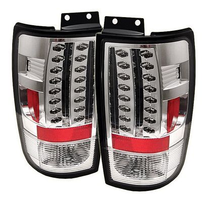 Ford Expedition 1997-2002 Clear LED Tail Lights