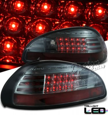 pontiac grand prix 1997 2003 smoked led tail lights a103vk42109 topgearautosport. Black Bedroom Furniture Sets. Home Design Ideas