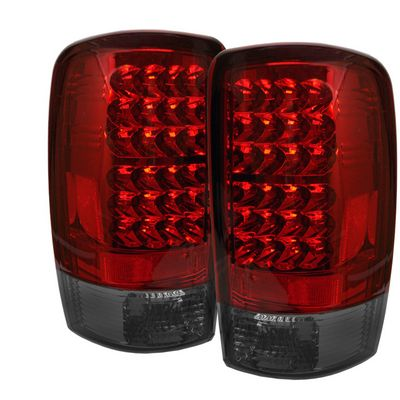 chevy tahoe 2000 2006 red and smoked led tail lights. Black Bedroom Furniture Sets. Home Design Ideas