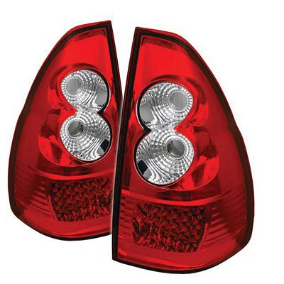Lexus GX470 2003-2007 Red and Clear LED Tail Lights