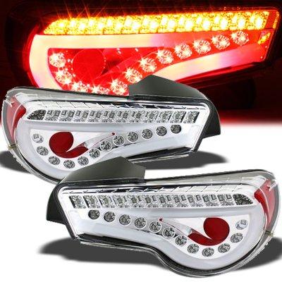 2013 Subaru BRZ Clear LED Tail Lights