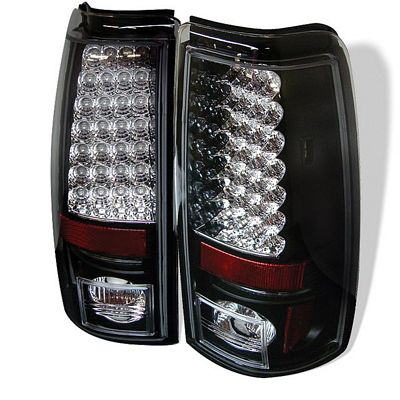 Chevy Silverado 2003-2006 Black LED Tail Lights