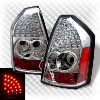 Chrysler 300 2005-2007 Clear LED Tail Lights