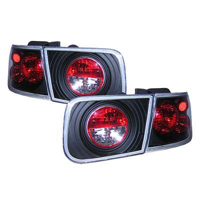 Honda Civic Coupe 1996-2000 JDM Black LED Tail Lights