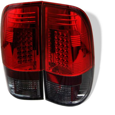 Ford F150 1997-2003 Red and Smoked LED Tail Lights