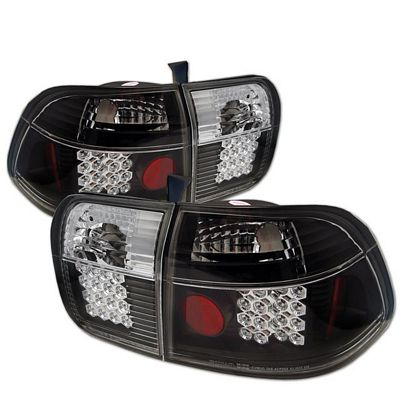 Honda Civic Sedan 1996-1998 Black LED Tail Lights
