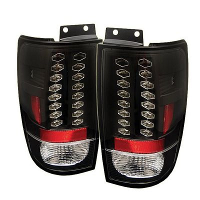 Ford Expedition 1997-2002 Black LED Tail Lights