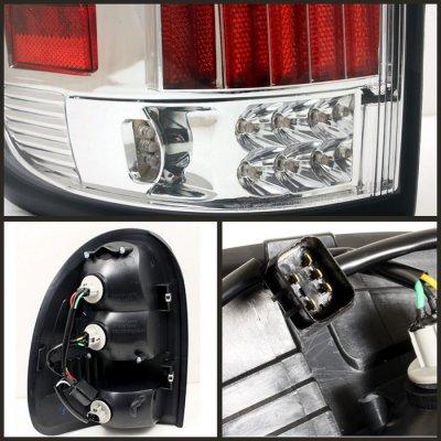 dodge durango 1998 2003 clear led tail lights a103ktey109. Black Bedroom Furniture Sets. Home Design Ideas