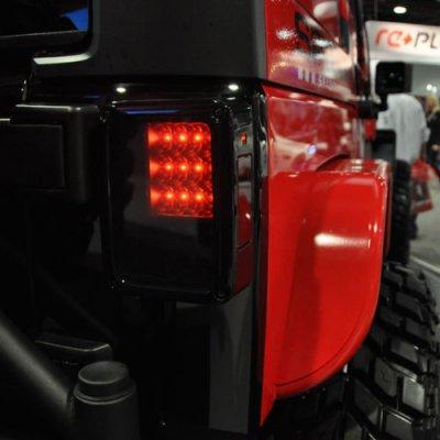 Jeep Wrangler Jk 2007 2015 Black Smoked Led Tail Lights