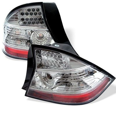 Honda Civic Coupe 2004-2005 Clear LED Tail Lights