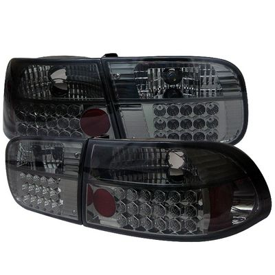 Honda Civic 1992-1995 Smoked LED Tail Lights