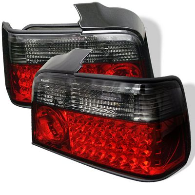 BMW E36 Sedan 3 Series 1992-1998 Red and Smoked LED Tail Lights