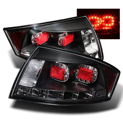 Audi Tt 1999 2006 Black Led Tail Lights A103xp39109 Topgearautosport
