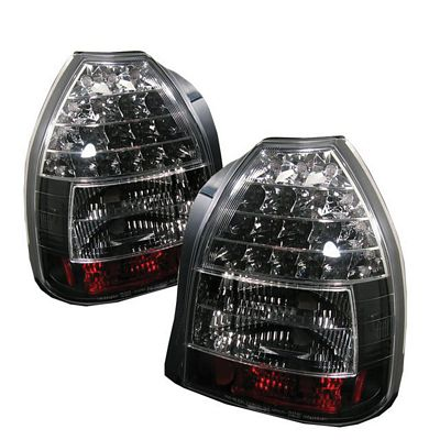 Honda Civic Hatchback 1996 2000 Jdm Black Led Tail Lights