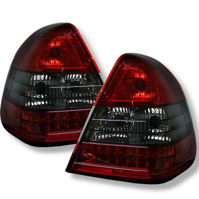 Mercedes Benz C Class 1994-2000 Red and Smoked LED Tail Lights