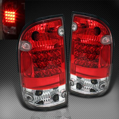 Toyota Tacoma 2001 2004 Red And Clear Led Tail Lights A103fh7p109 Topgearautosport
