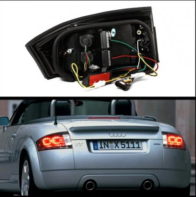 Audi TT 1999-2006 Smoked LED Tail Lights