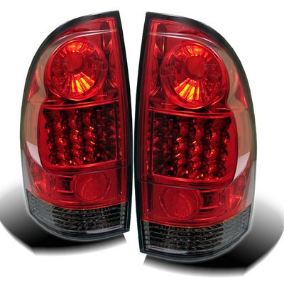 Toyota Tacoma 2005-2011 Red and Smoked LED Tail Lights