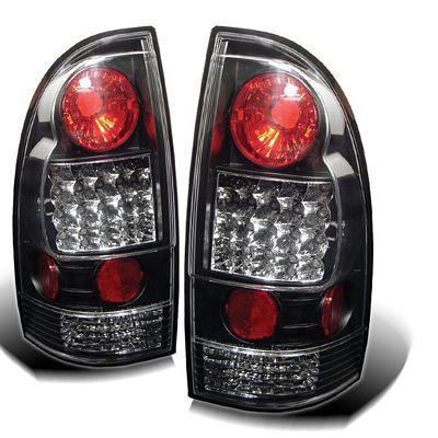 toyota tacoma 2005 2011 black led tail lights. Black Bedroom Furniture Sets. Home Design Ideas