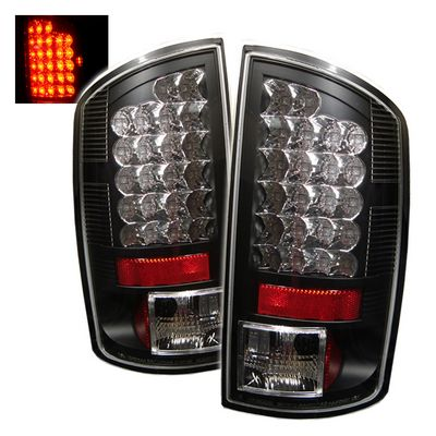 Dodge Ram 2007-2008 Black LED Tail Lights