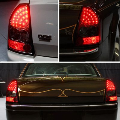 chrysler 300 2005 2007 smoked led tail lights. Black Bedroom Furniture Sets. Home Design Ideas