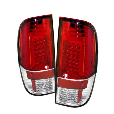 Ford F250 Super Duty 2008-2012 Red and Clear LED Tail Lights