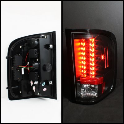 Chevy Silverado 2010 2011 Black Led Tail Lights