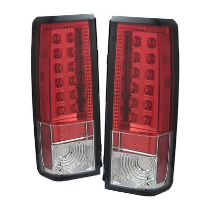 Chevy Astro 1985-2004 Red and Clear LED Tail Lights