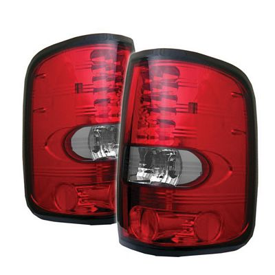 Ford F150 2004-2008 Red and Clear LED Tail Lights