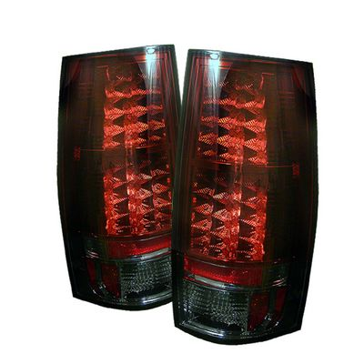 GMC Yukon Denali 2007-2008 Red and Smoked LED Tail Lights