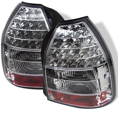 Honda Civic Hatchback 1996-2000 Clear LED Tail Lights