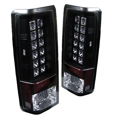 Chevy Astro 1985-2004 Black LED Tail Lights